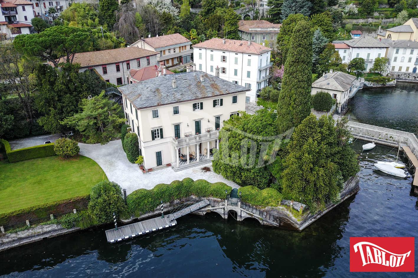 villa clooney lago di como con il drone