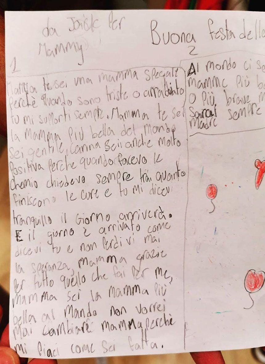 lettera figlio elena santarelli