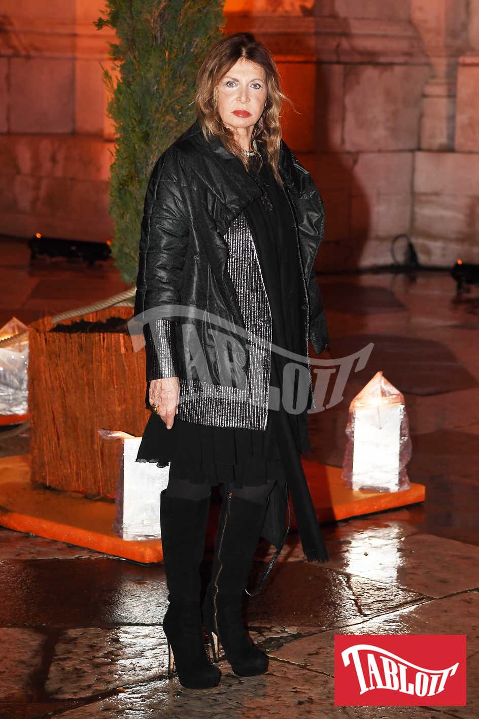 Maria Luisa Trussardi, mamma di Tomaso Trussardi e suocera di Michelle Hunziker a venezia