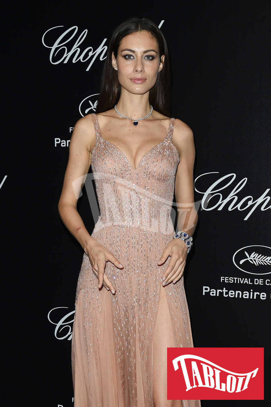 Marica Pellegrinelli sul red carpet del party Chopard di Cannes