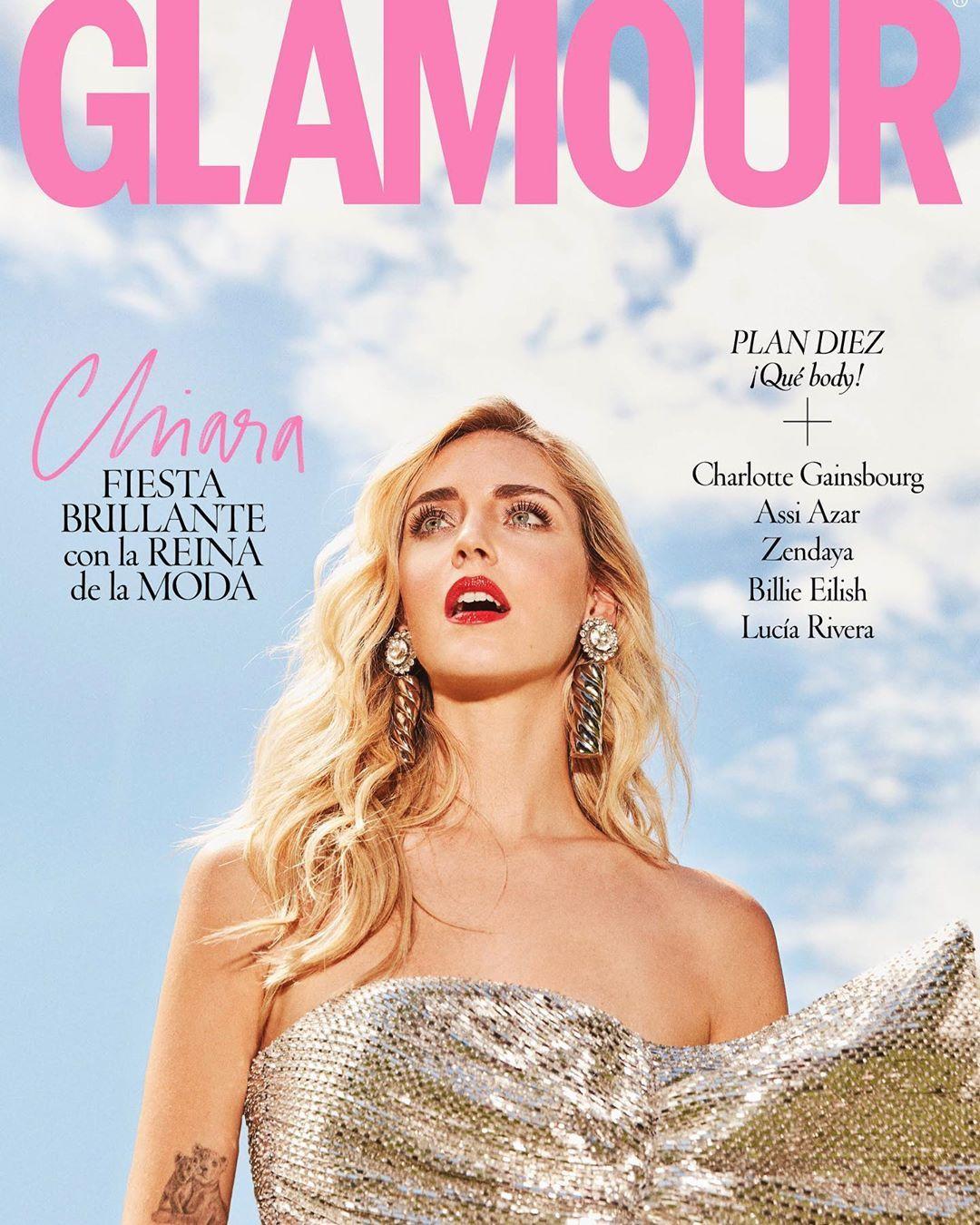 Chiara Ferragni sulla cover di Glamour Spagna