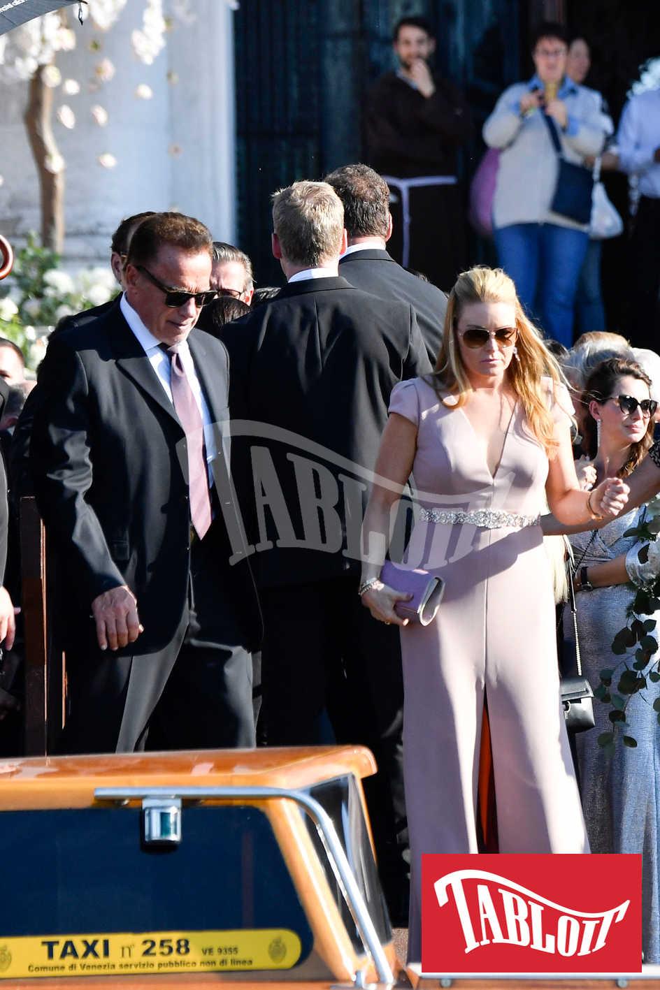 Arnold Schwarzenegger e Heather Milligan a Venezia