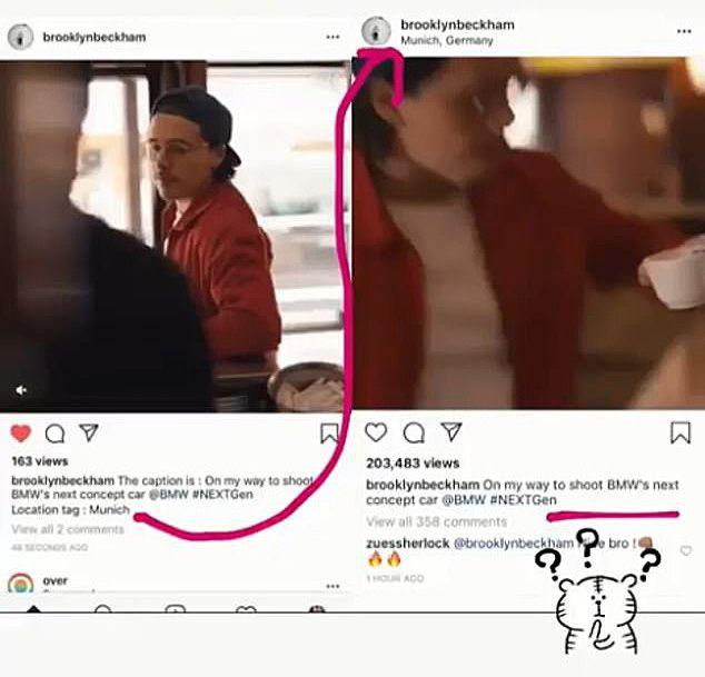 brooklyn beckham errore instagram