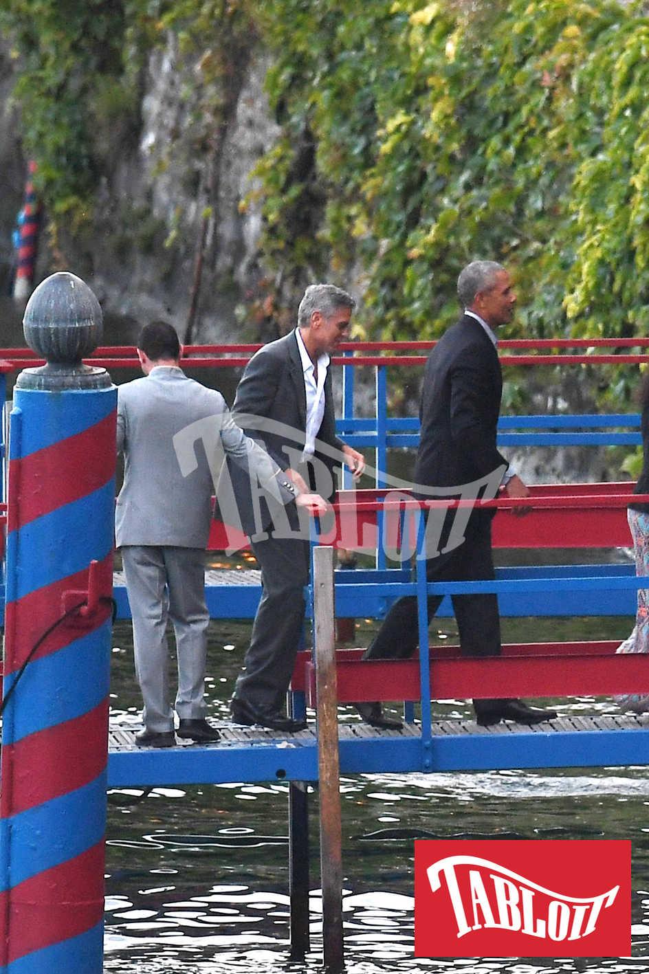George Clooney insieme a Barack Obama sul lago di Como