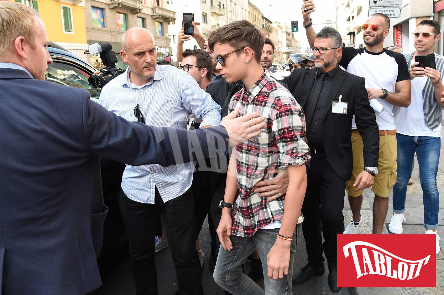 Romeo Beckham a milano