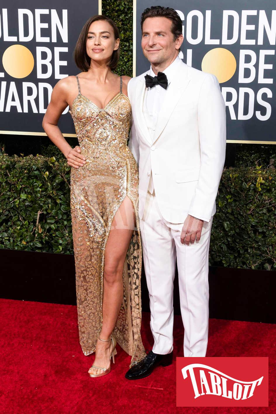 Bradley Cooper e Irina Shayk ai Golden Globe