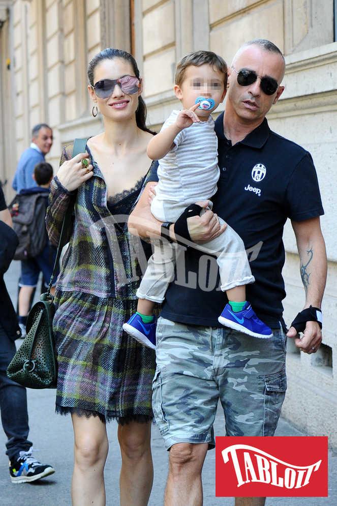 Eros Ramazzotti e Marica Pellegrinelli con il figlio Gabrio Tullio
