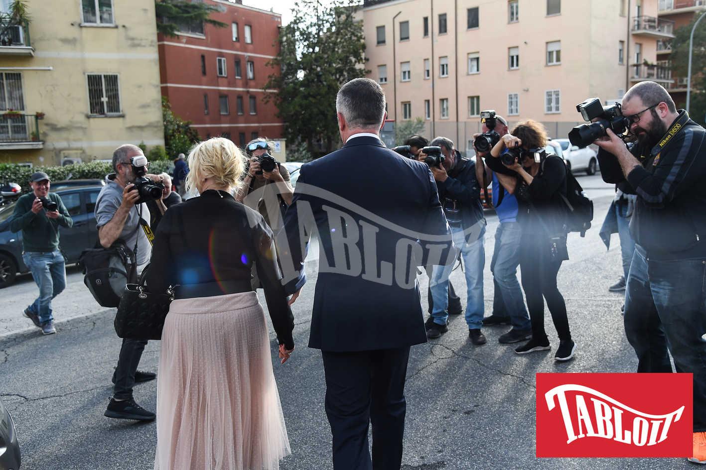Antonella Clerici e Vittorio Garrone alle nozze di lorella boccia