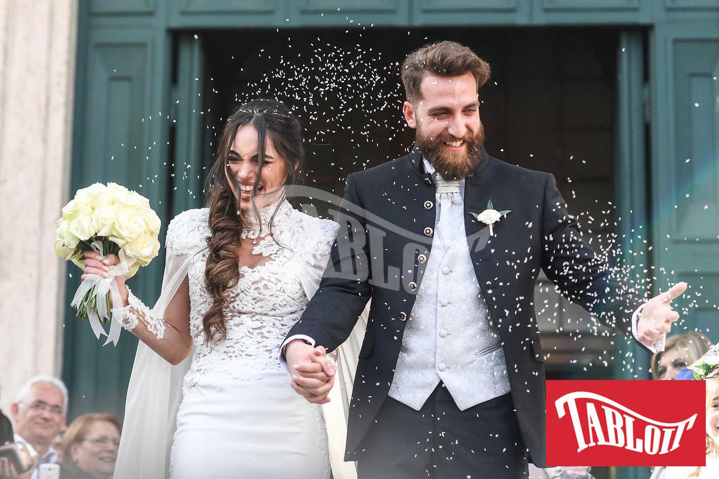 Lorella Boccia e Niccolò Presta il giorno delle nozze