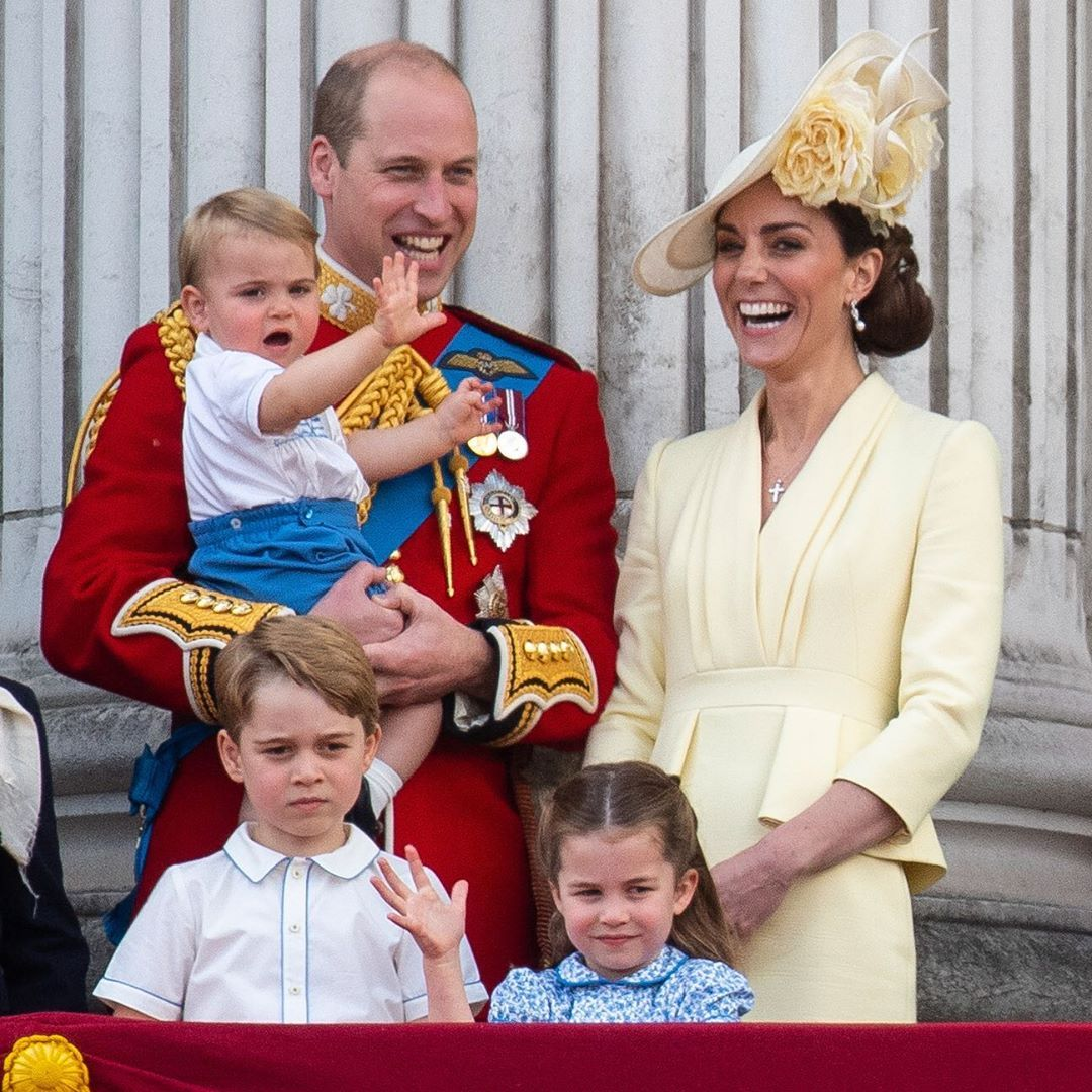 Il Duca e la Duchessa di Cambridge con i figli: il Principe George, la Principessa Charlotte e il principe Louis