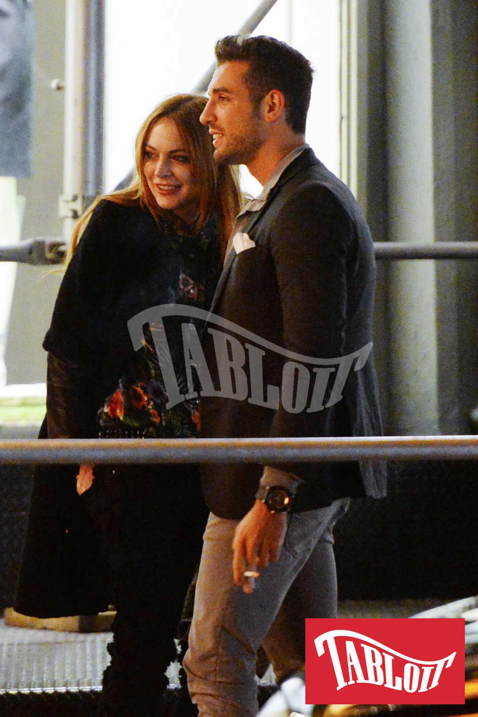 Tommy Chiabra nel 2014 a New York con Lindsay Lohan