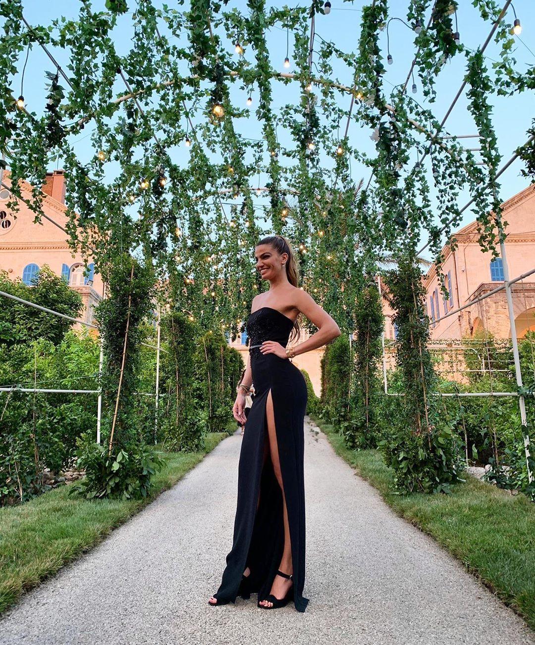 Bianca Brandolini D'Adda, ospite delle nozze di Elie Saab Jr e Christina Mourad