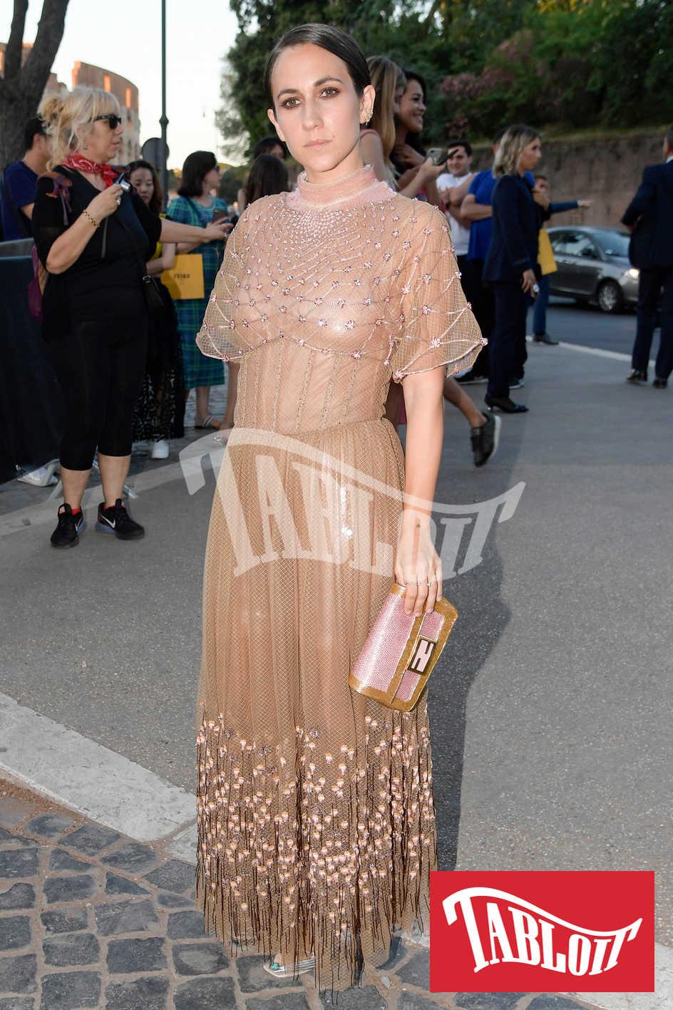 Delfina Delettra Fendi alla sfilata di Fendi 2019 a Roma