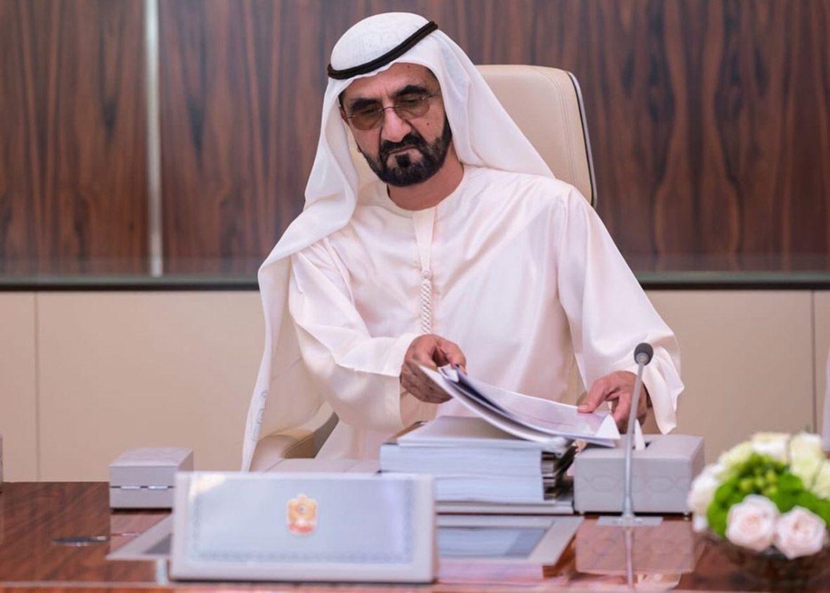 L'emiro di Dubai Mohammed bin Rashid Al Maktoum