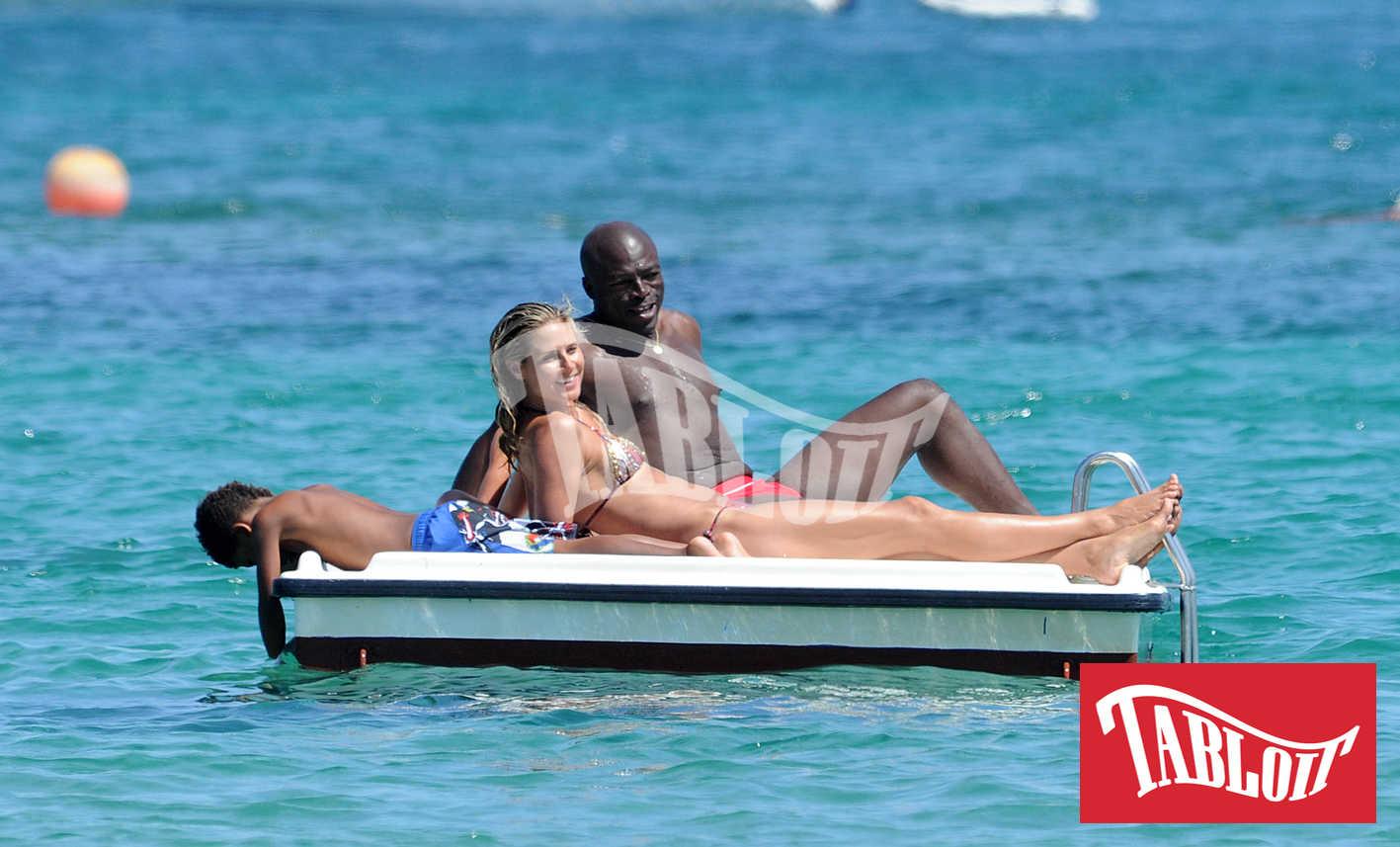 Heidi Klum con Seal ai tempi del loro amore durante una vacanza in Sardegna