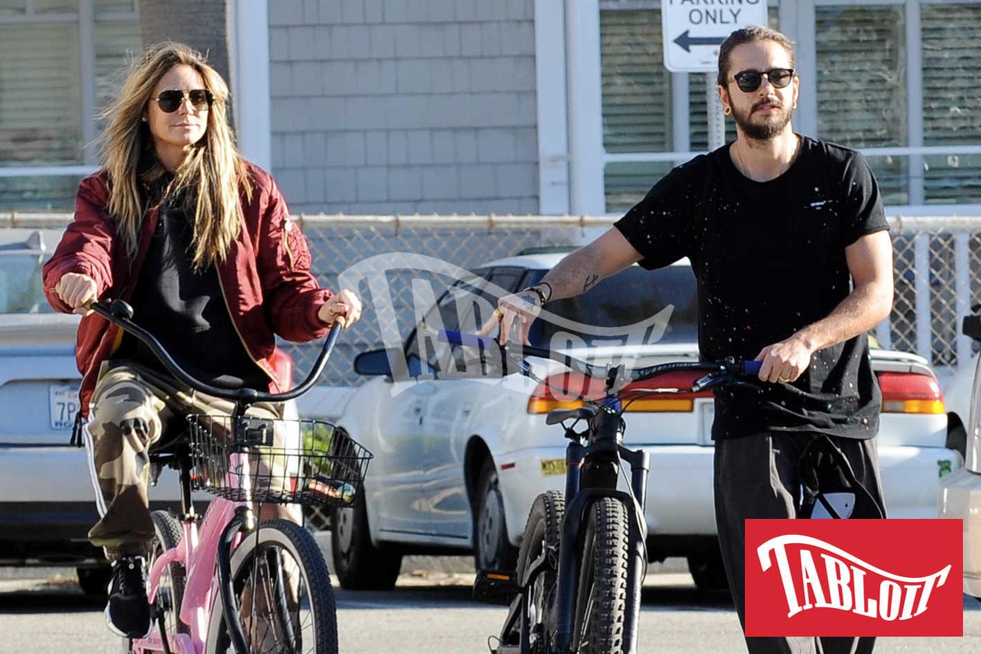 Heidi Klum e Tom Kaulitz in bici per le strade di Santa Monica