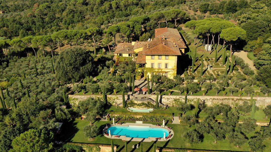 La tenuta Il Palagio, di proprietà del cantante Sting, location delle nozze di Leona Lewis
