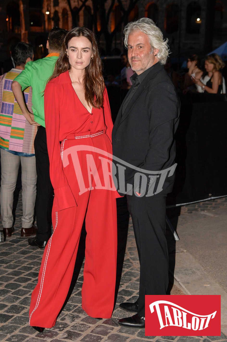 Kasia Smutniak e Domenico Procacci alla sfilata di Fendi 2019 a Roma
