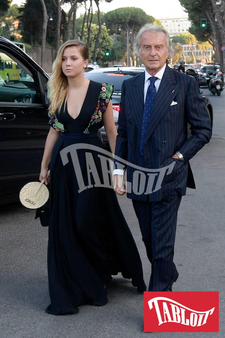 Luca Cordero di Montezemolo e figlia alla sfilata di Fendi 2019 a Roma