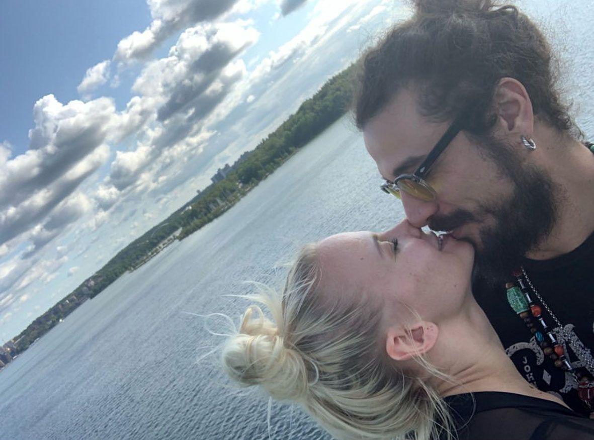 bacio Dani Osvaldo e Veera Kinnunen