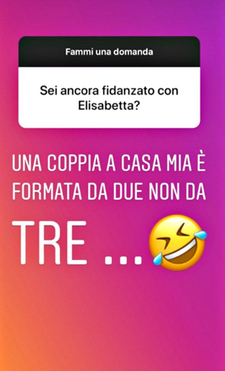 Instagram Story di Francesco Bettuzzi sul rapporto con Elisabetta Gregoraci