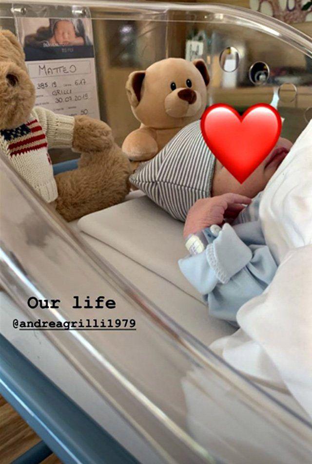 La storia Instagram di Giorgia Gabriele con la quale ha annunciato la nascita