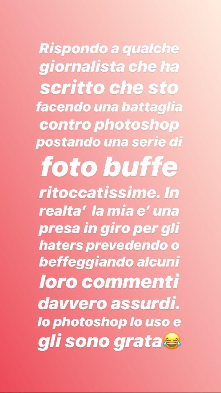 alessia marcuzzi storia instagram photoshop