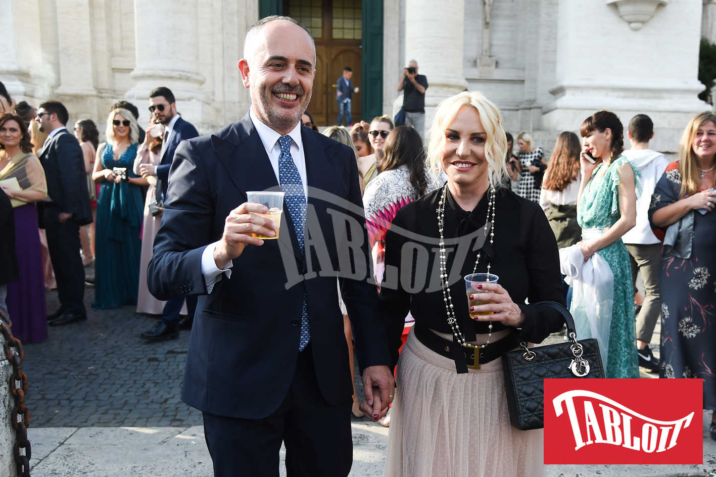 Antonella Clerici con il compagno Vittorio Garrone