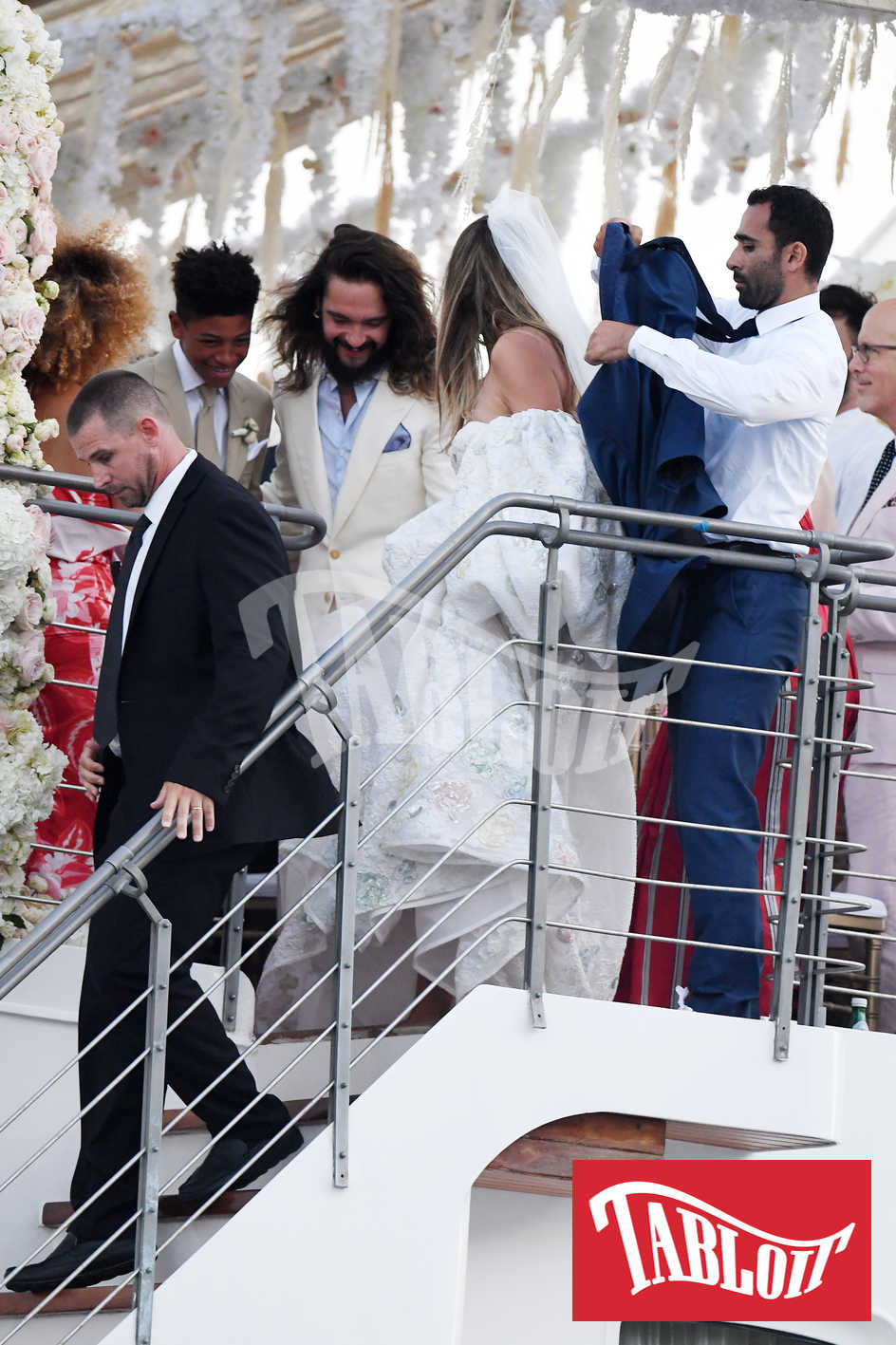Heidi Klum e Tom Kaulitz al termine della cerimonia