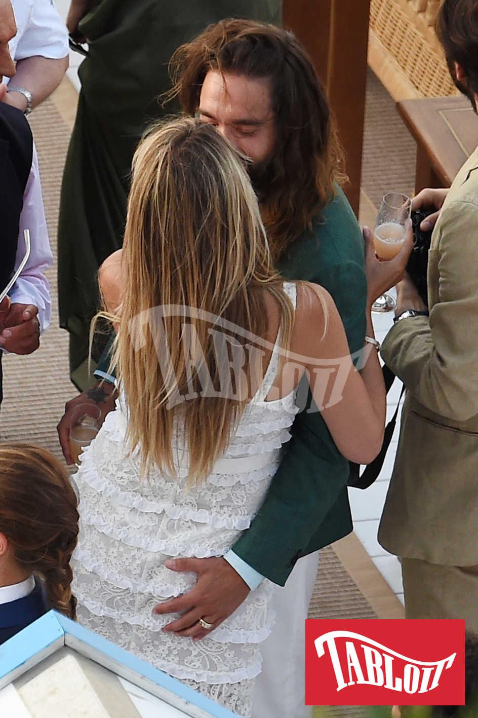 Heidi Klum e Tom Kaulitz durante il party a Capri