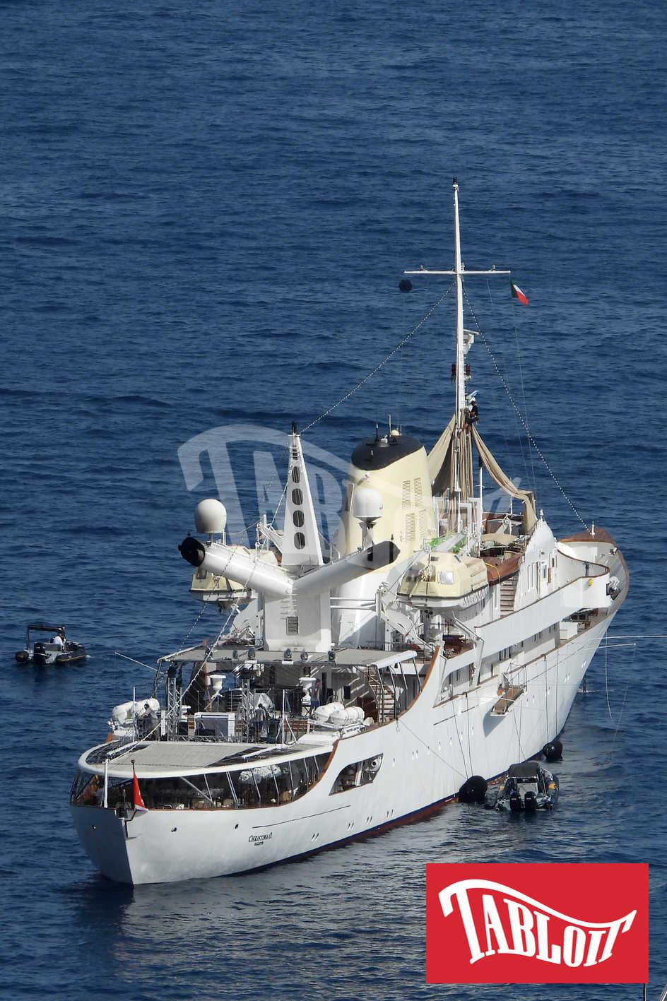yacht christina o heidi klum