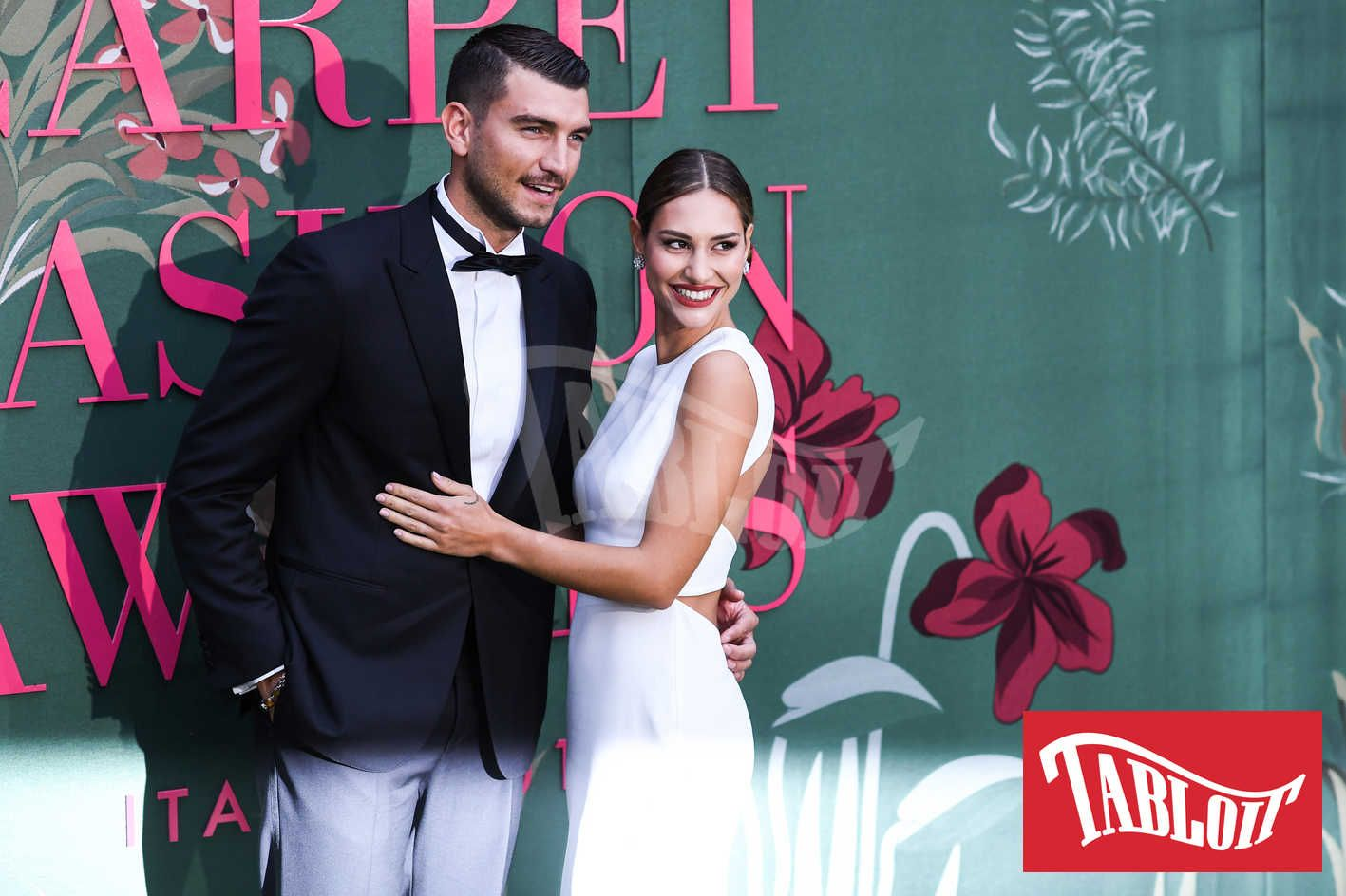 Beatrice Valli e Marco Fantini green carpet