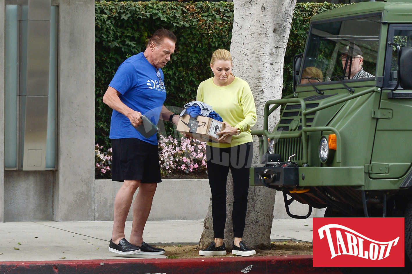 Arnold Schwarzenegger con la fidanzata Heather Milligan