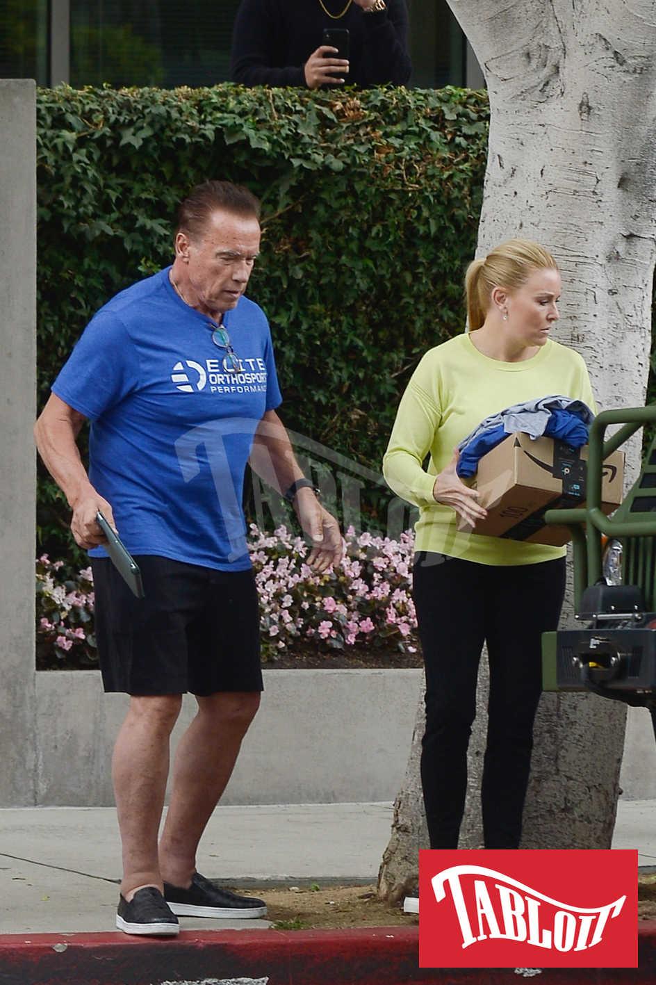 Arnold Schwarzenegger con la fidanzata