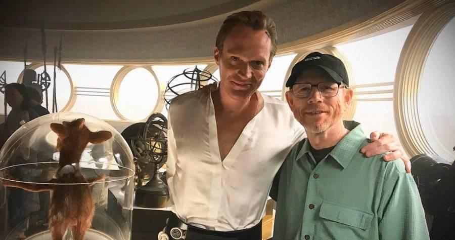 Paul Bettany e Ron Howard sul set di Solo: A Star Wars Story