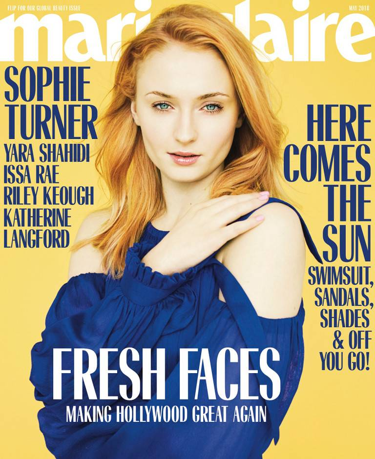 Sophie Turner sulla copertina di Marie Claire