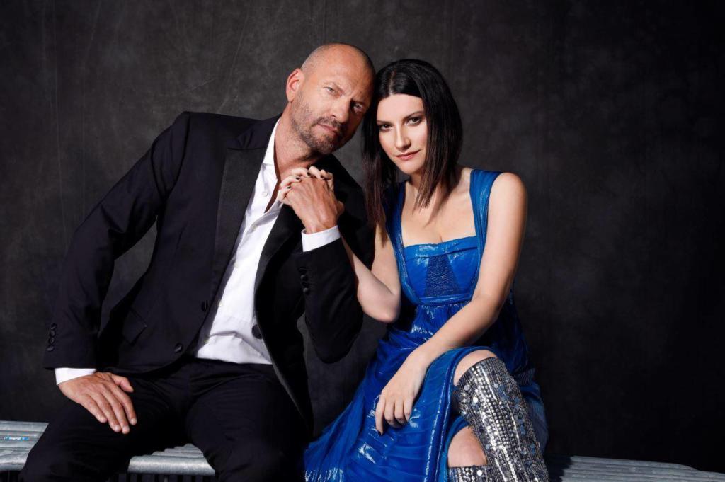 Biagio Antonacci e Laura Pausini in una foto promozionale (TG Com)