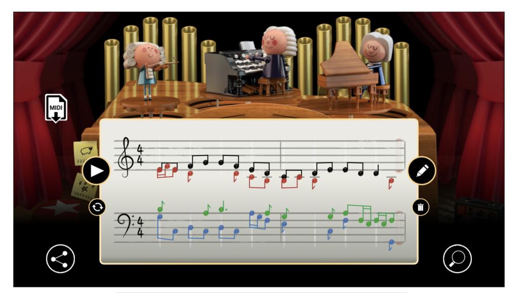 La schermata interattiva del doodle