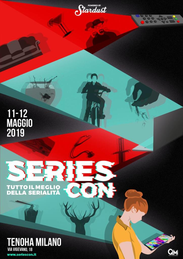 Seriescon_locandina realizzata da Andrea G. Borrelli in arte The Man Who Drew Too Much
