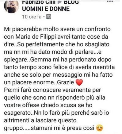 Uomini e Donne Fabrizio Cilli