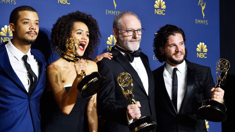 Emmy 2018 - Jacob Anderson, Nathalie Emmanuel, Liam Cunngham e Kit Harington - Game of Thrones