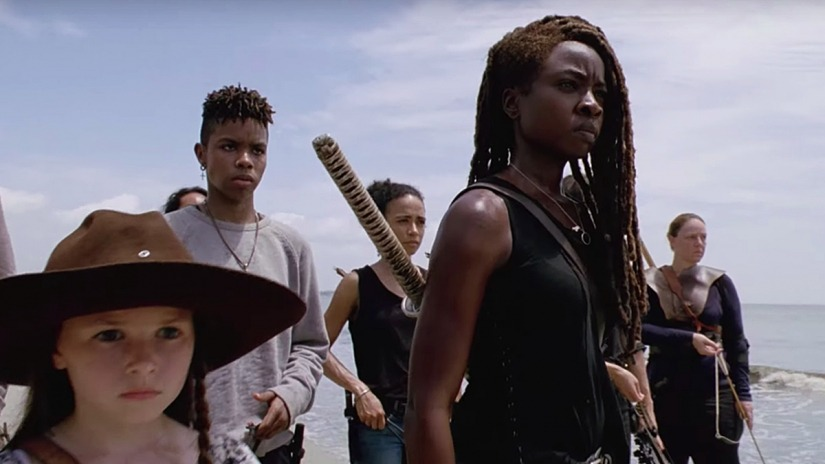 The Walking Daead 10 - Cailey Fleming e Danai Gurira