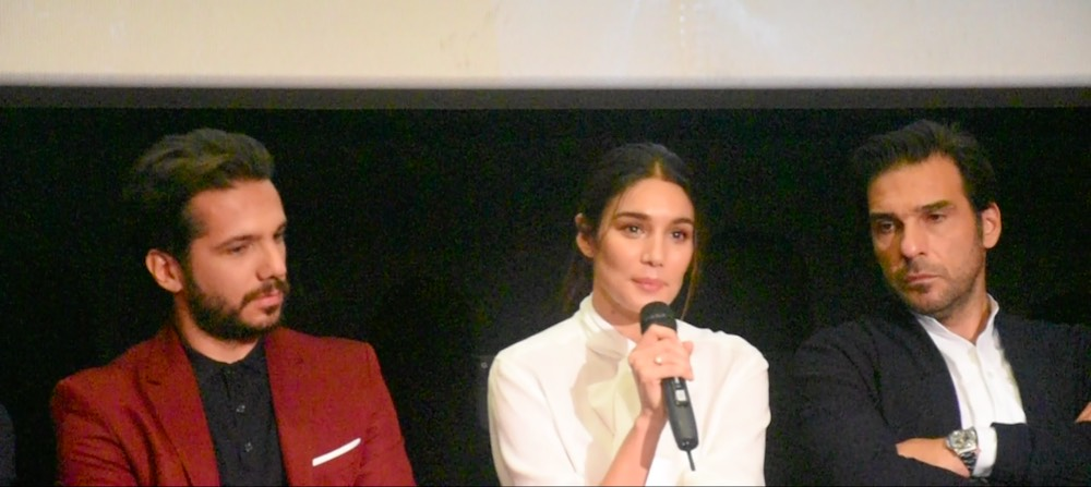 Uomini d'oro - conferenza stampa - Vincenzo Alfieri, Mariela Garriga, Edoardo Leo