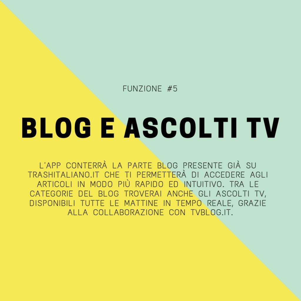trash italiano app ascolti tv