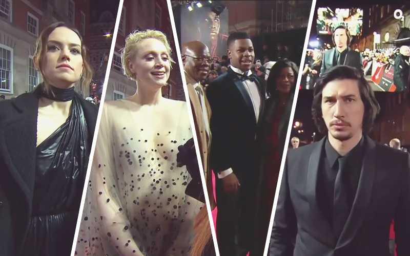 """Daisy, Gwendoline, John e Adam alla premiere londinese de """"Gli Ultimi Jedi"""""""