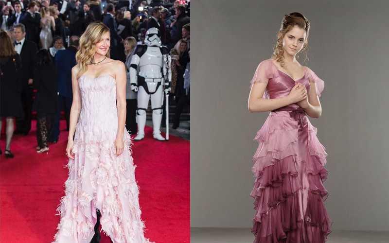 """Laura Dern a confronto con Hermione alla premiere de """"Gli Ultimi Jedi"""""""