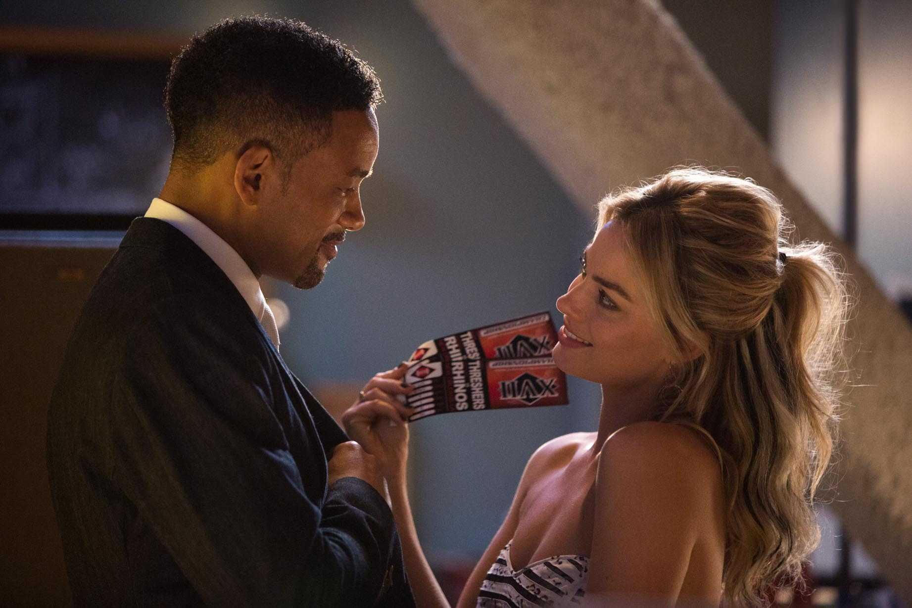 Margot Robbie e Will Smith in Focus