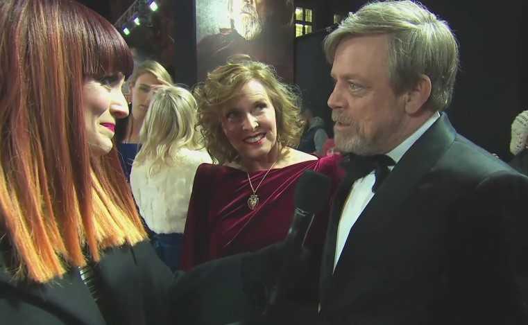 """Mark Hamill e la moglie Marilou York alla premiere de """"Gli Ultimi Jedi"""""""