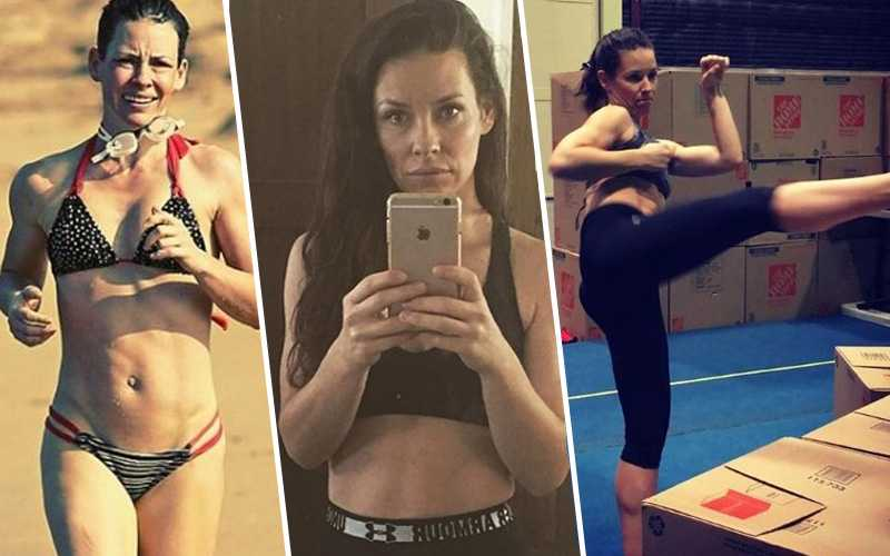 Evangeline Lilly Workout.