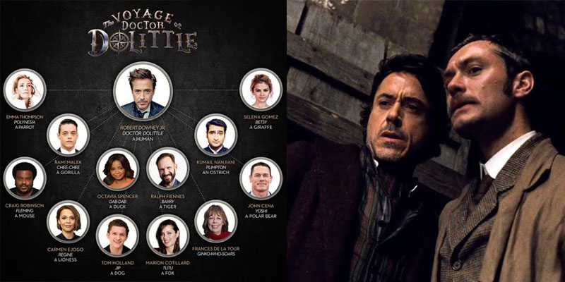 Robert Downey Jr - Dr Dolittle e Sherlock Hokmes